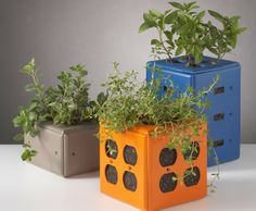 Tech geeks will dig ReadyMade's tutorial on creating a switch plate planter.