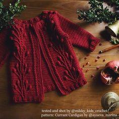 Ravelry: Currant Cardigan (crochet, recipe) pattern by Marina Ayueva Baby Knitting Patterns, Loom Knitting, Baby Patterns, Crochet Patterns, Knitting Tutorials, Shawl Patterns, Vogue Patterns, Vintage Patterns, Free Knitting