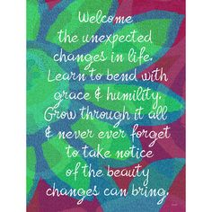 Welcome The Unexpected by Artist Lisa Weedn Wood Sign