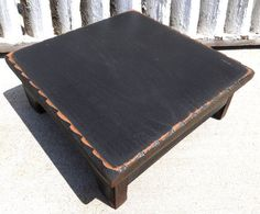 Black Wood Primitive Table Riser on Etsy, $16.95