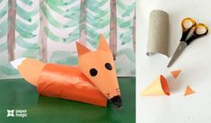 How to make paper animals craft « Preschool and Homeschool Paper Animal Crafts, Fox Crafts, Paper Animals, Arts And Crafts, Construction Paper Art, Scrap Material, Learning Process, Child Love, How To Make Paper