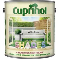 Cuprinol Garden Shades - White Daisy - 2.5L for shed Windows and interior. £15