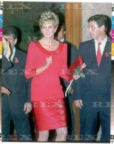 Princess Diana At The British Business Centre Seoul South Korea. 4 Nov 1992