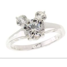 Anel de diamante do mickey mouse