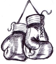 hanging Boxing Gloves - (not mine) Biro work, simple design which can be easily incorporated:) boxing fight Easy People Drawings, Easy Flower Drawings, Easy Disney Drawings, Easy Doodles Drawings, Pencil Drawings Of Flowers, Realistic Drawings, Love Drawings, Boxing Gloves Tattoo, Boxing Gloves Drawing