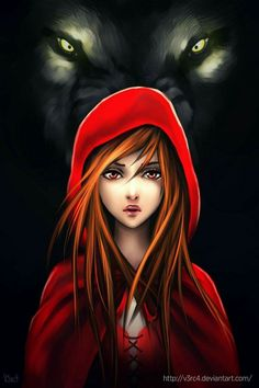 Little Red Riding Hood by Do not trifle with the girl in the red hood. She has a wolf at her back. Little Red Ridding Hood, Red Riding Hood, Art Manga, Anime Art, Manga Anime, Graffiti Kunst, Arte Black, Chesire Cat, Big Bad Wolf