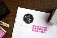 Mailed With Love Rubber Stamp; don't like this look but like the sentiment