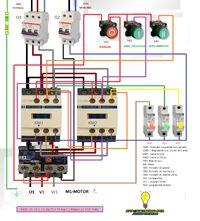 Esquemas eléctricos: inversion de giro pasando por paro motor trifasico...