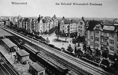 Berlin 1919 Am Bahnhof Wilmersdorf-friedenau Berlin Photos, S Bahn, Life Goes On, Historical Photos, Alter, New York Skyline, Black And White, History, City