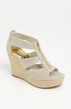 MICHAEL Michael Kors 'Damita' Wedge Sandal available at #Nordstrom- how great would these be all summer!