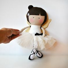My Teeny Tiny Doll Amber by CookYouSomeNoodles on Etsy Tiny Dolls, Soft Dolls, Cute Dolls, Doll Clothes Patterns, Doll Patterns, Softies, Handmade Stuffed Animals, Sewing Dolls, Fabric Dolls