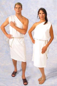 Togas were a distinctive garment worn in Ancient Roman times, particularly by Roman men.