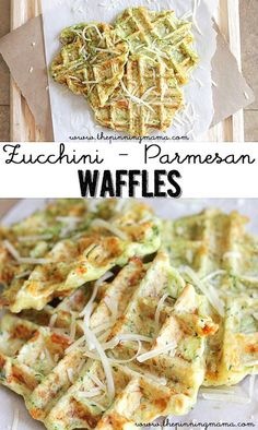 Zucchini Parmesan Waffle Fritters - the PERFECT way to get the kids to eat their veggies! YUM!