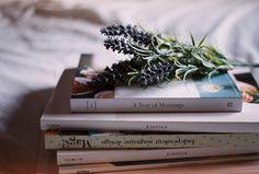 Books & lavender