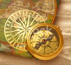 Book with retro golden compass royalty-free stock photo The Golden Compass, Vintage Paper, Retro, Japanese Art, Photo Book, Photo Editing, Royalty Free Stock Photos, Illustration, Artist