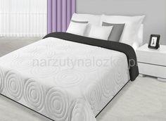 Biało czarna dwustronna narzuta na łóżko