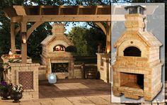 Outside brick oven