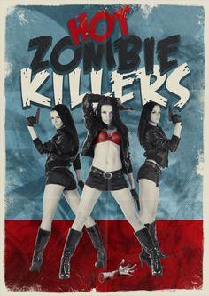 Criando o pôster vintage de Hot Zombie Killers.   ::Tutoriais Photoshop::