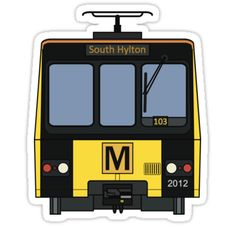 """Tyne and Wear Metro Stickers by careful-design Newcastle Metro, Underground Tube, Rail Train, British Rail, Train Station, My Design, Stickers, Inspiration, Biblical Inspiration"