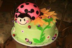 Pink Ladybug Cake | Pink ladybug birthday cake | Flickr - Photo Sharing!