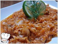 lachanoryzo (rice with cabbage) Cookbook Recipes, Cooking Recipes, Cooking Food, English Food, English Recipes, Greek Recipes, No Cook Meals, Risotto, Food To Make