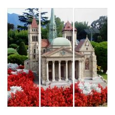 St. Pierre Cathedral - Geneva Triptych - original gifts diy cyo customize