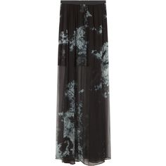 RAQUEL ALLEGRA Tie Dye Maxi Skirt (€155) ❤ liked on Polyvore featuring skirts, maxi skirt, & - clothing - skirts, long skirts, pleated maxi skirt, tie dye skirts, tie dye maxi skirt, maxi skirts and tie dye long skirts