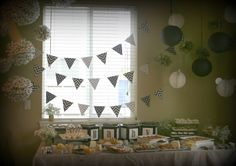 baby shower black white and gold #bear