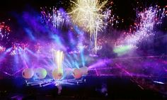 Fireworks are set off during the Opening Ceremony of the 2015 Copa America, at the Nacional Stadium, Santiago, Chile (11.06.2015)