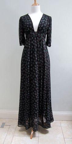 Vintage Ossie Clark & Celia Birtwell Maxi Plunge Dress for Radley