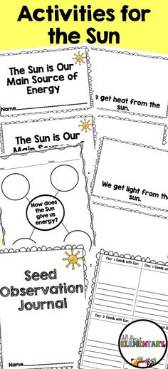 59 Super Ideas Science Earth And Space Lesson Plans, Science Lesson Plans, Kindergarten Lesson Plans, Science Worksheets, Kindergarten Science, Science Classroom, Science Lessons, Kindergarten Worksheets, Elementary Science, First Grade Science