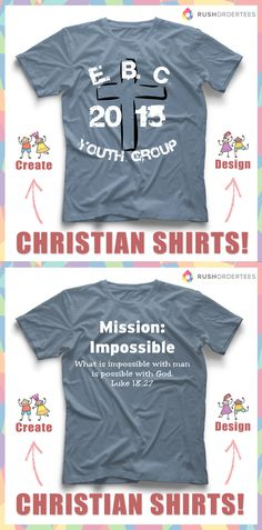 da6faaaf Church Shirt Design Templates - Ideas for Custom Church T-Shirts. Pizza  PunsFunny PizzaClub ShirtsYouth Group ...