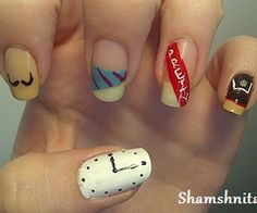 Nine In The Afternoon Panic! At The Disco Nail art. OH.MY.GOSH.