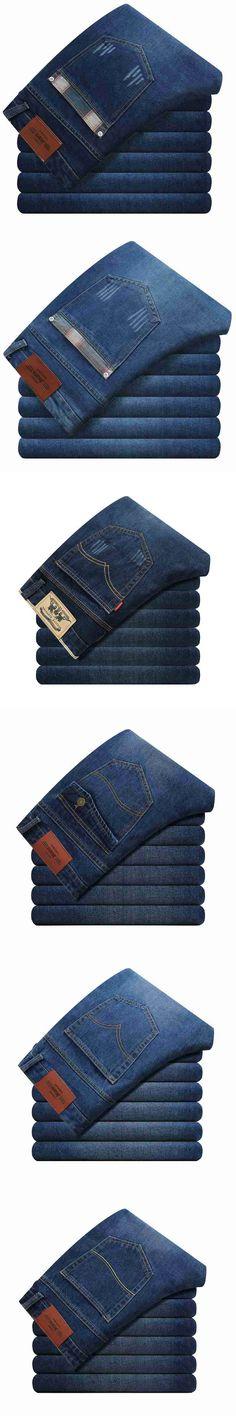 #1426 Straight jeans hombre Spring/Autumn Mens jeans brand Fashion Casual Denim Plus size jeans hommes Cheap jeans for men
