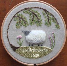 The Floss Box   Sheep Crewel Embroidery