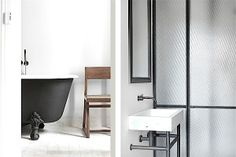 "Modern bathroom inspiration byCOCOON.com | Inox Stainless Steelbathroom taps & solid surface design basins and cabinets | Have a look at the ""Custom50"" or ""FLOAT"" series by COCOON | Moderne badkamer met RVS badkamerkranen & wastafel design, verkrijgbaar op byCOCOON.nl | COCOON Dutch Designer Brand."