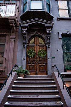 winter evening #2, 187 Columbia Heights, Brooklyn Heights, New York