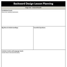 Weekly detailed lesson plan template secondary weekly lesson backward design lesson plan template saigontimesfo