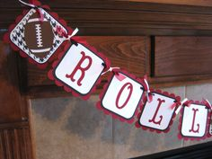 University of Alabama Football Party Banner (can customize to your team). $16.00, via Etsy.