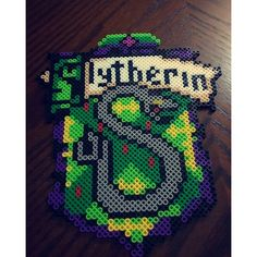 Slytherin Harry Potter perler beads by this_life_creations