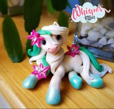Elsa inspired Frozen Fever Filly By Whisper Fillies Whisperfillies.etsy.com Unique little handmade polymer clay horse, pony, unicorn and fantasy creatures  Find my work on Instagram and Facebook too! Nerd geek geeky collectible model horse nerdy kawaii whimsical art doll dolls toy Disney