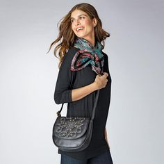 """Signature Studded Crossbody 