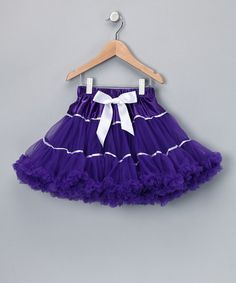 Take a look at this Dark Purple Ribbon Pettiskirt - Toddler & Girls by The Butterfly Grove on #zulily today!