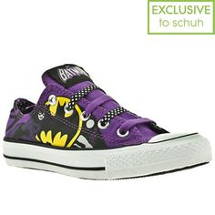 Women's Black & Purple Converse All Star Ox Iii Catwoman Dc at schuh