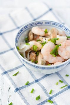 Sea food in a bowl