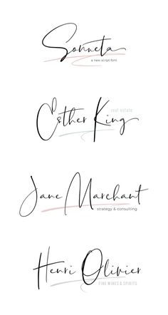 I like this font - Modern signature style script. Modern Script Font, Modern Fonts, Script Logo, Hand Script Font, Handwritten Typography, Typography Poster, Typography Design, Signature Fonts, Signature Style