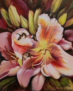 """"""" Fantasy Lilly """" My Arts, Fantasy, Painting, Color, Colour, Imagination, Painting Art, Paintings, Painted Canvas"""
