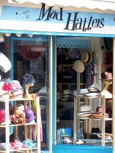 Hat shop in Trafalgar Street, Brighton, England. Brighton Shops, Brighton Rock, Brighton Sussex, Brighton And Hove, Brighton England, Boutiques, Cute Store, Curiosity Shop, Shop Fronts