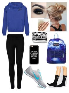 """""""School ✌"""" by siermiller on Polyvore featuring Wolford, NIKE, Casetify and JanSport"""