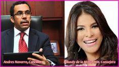 Navarro: ministro de Relaciones Exteriores; Nikauly de la Mota, Min. Consejera en Mexico; Asunción superintendente de Bancos - http://www.presenciarddigital.net